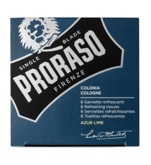 Proraso Azur Lime Refreshing Tissues Gaivinančios servetėlės, 6 vnt. | inbeauty.lt