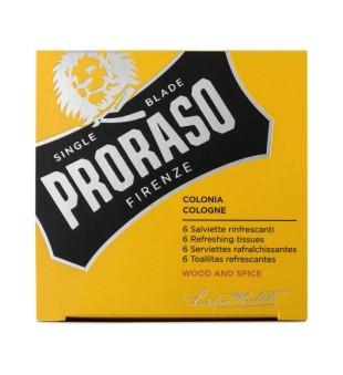 Proraso Wood & Spice Refreshing Tissues Gaivinančios servetėlės, 6 vnt | inbeauty.lt