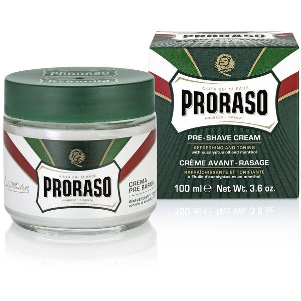 Green Line Pre-Shaving Cream Gaivinantis kremas prieš skutimąsi, 100ml