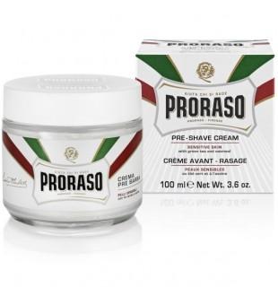 Proraso White Line Pre-Shaving Cream Jautrios odos kremas prieš skutimąsi, 100ml | inbeauty.lt