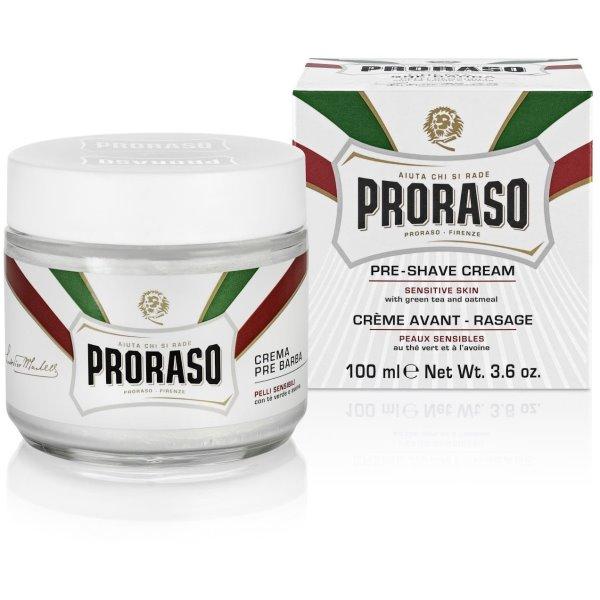 White Line Pre-Shaving Cream Jautrios odos kremas prieš skutimąsi, 100ml