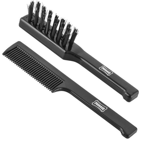 Moustache Brush & Beard Comb Set Senojo stiliaus ūsų šepetėlių rinkinys, 1vnt.