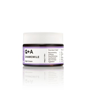 Q+A Chamomile Night Cream Raminamasis naktinis veido kremas, 50g | inbeauty.lt