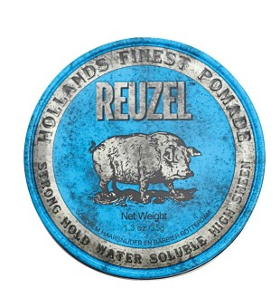 Reuzel Blue Strong Hold High Sheen Pomade - Pomada plaukams, 35 g | inbeauty.lt