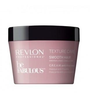 Revlon Professional Be Fabulous Texture Care Smooth Hair Cream Anti-Frizz Mask Glotnumo suteikianti plaukų kaukė, 200ml | inbeauty.lt