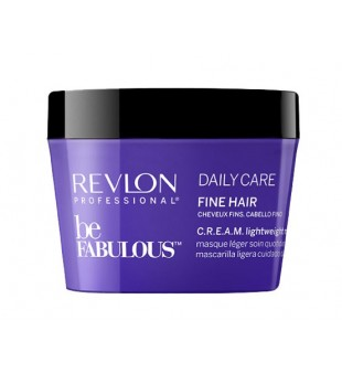 Revlon Professional Be Fabulous Daily Care Fine Hair Cream Lightweight Mask Kaukė ploniems plaukams, 200ml | inbeauty.lt