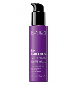 Revlon Professional Be Fabulous Hair Recovery Damaged Hair Ends Repair Serum Serumas pažeistiems plaukų galiukams, 80ml | inbeauty.lt