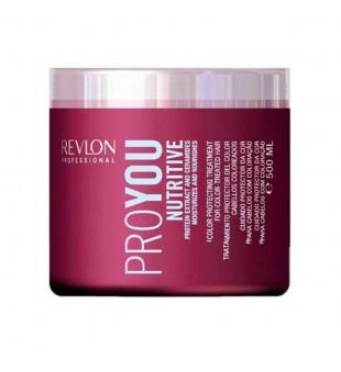 Revlon Professional Pro You Nutritive Color Protecting Treatment Drėkinanti plaukų kaukė su kviečių baltymais, 500ml | inbeauty.lt