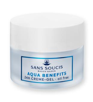 Sans Soucis  Aqua Benefits 24h Cream-Gel Drėkinamasis veido kremas-gelis, 50ml   inbeauty.lt