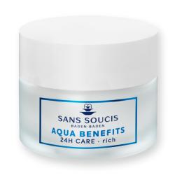 Aqua Benefits 24h Care Rich Drėkinamasis veido kremas sausai odai, 50ml