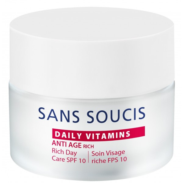 Daily Vitamins Rich Day Care SPF 10 Veido kremas nuo raukšlių, 50ml