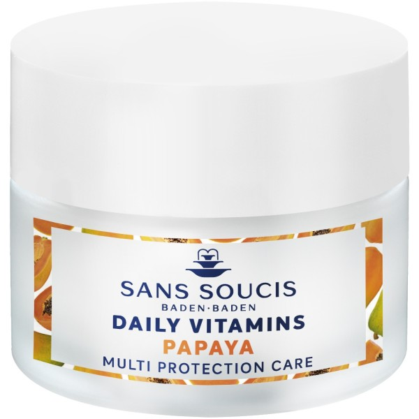 Daily Vitamins Papaya Multi Protection Care Apsauginis veido kremas, 50ml