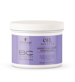 Schwarzkopf Professional BC Oil Miracle Barbary Fig Oil & Keratin Mask Atkuriamoji kaukė su figavaisių opuncijų aliejumi, 500ml | inbeauty.lt