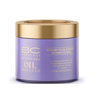 Schwarzkopf Professional BC Oil Miracle Barbary Fig Oil & Keratin Mask Atkuriamoji kaukė su figavaisių opuncijų aliejumi, 150ml | inbeauty.lt