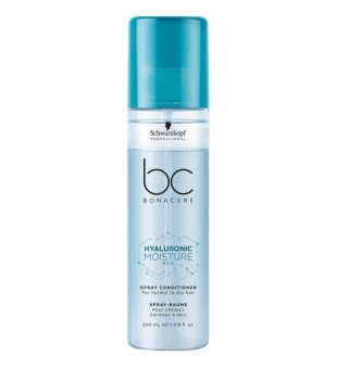 Schwarzkopf Professional BC Hyaluronic Moisture Kick Spray Conditioner Purškiamas kondicionierius sausiems plaukams, 200ml | inbeauty.lt