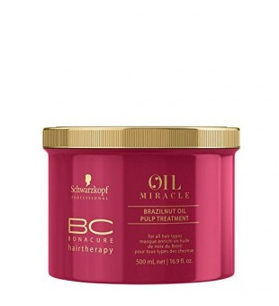 Schwarzkopf Professional BC Oil Miracle Brazilnut Oil Pulp Treatment Plaukų kaukė su bertoletijų aliejumi, 500ml | inbeauty.lt