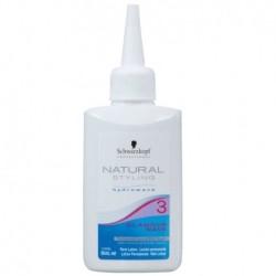 Pažeistų plaukų cheminio sušukavimo losjonas  Natural Styling Glamour Wave 3 80ml