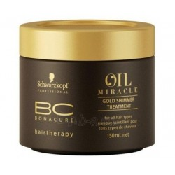 BC Oil Miracle Gold Shimmer Treatment Spindesio suteikianti kaukė, 150ml
