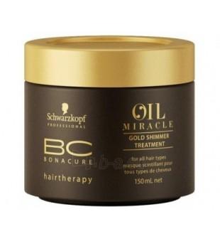 Schwarzkopf Professional BC Oil Miracle Gold Shimmer Treatment Spindesio suteikianti kaukė, 150ml   inbeauty.lt