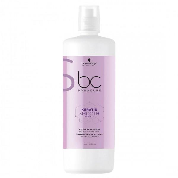 Keratin Smooth Perfect Micelinis plaukų šampūnas su keratinu, 1000ml