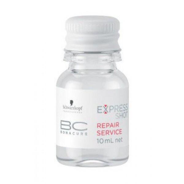 BC Express Shot Repair Service Greito poveikio atkuriamoji priemonė plaukams, 8x10ml