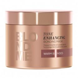 BLOND ME Tone Enhancing Bonding Mask Atkuriamoji, toną puoselėjanti plaukų kaukė (šiltiems atspalviams), 200ml