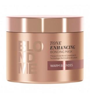 Schwarzkopf Professional BLOND ME Tone Enhancing Bonding Mask Atkuriamoji, toną puoselėjanti plaukų kaukė (šiltiems atspalviams), 200ml | inbeauty.lt