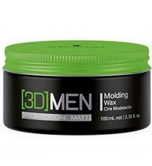 Schwarzkopf Professional 3D MEN Molding Wax Vidutinės fiksacijos plaukų vaškas, 100ml | inbeauty.lt