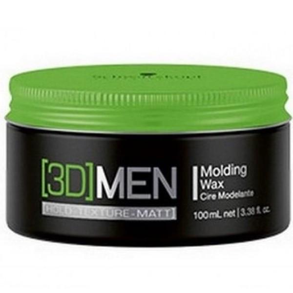 3D MEN Vidutinės fiksacijos plaukų vaškas, 100ml