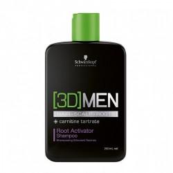 3D MEN Root Activator Shampoo Plaukų augimą skatinantis šampūnas, 250ml