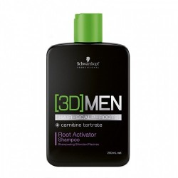 3D MEN Plaukų augimą skatinantis šampūnas, 250ml