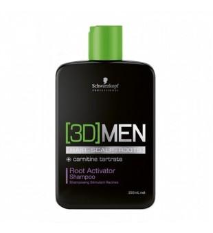 Schwarzkopf Professional 3D MEN Root Activator Shampoo Plaukų augimą skatinantis šampūnas, 250ml | inbeauty.lt
