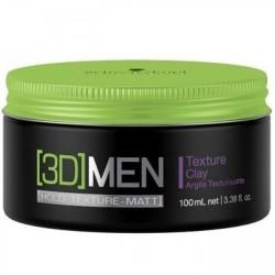 3D MEN Texture Clay Stiprios fiksacijos plaukų molis, 100ml