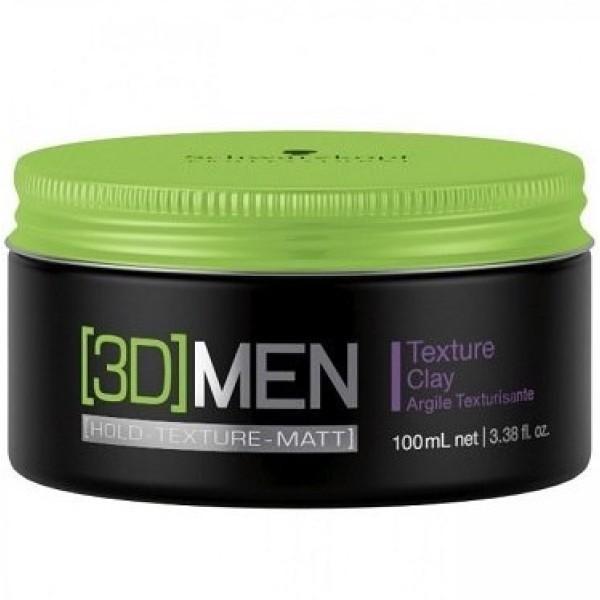 3D MEN Stiprios fiksacijos plaukų molis, 100ml