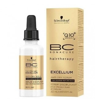 Schwarzkopf Professional BC Exellium Anti Dry Serum Glotninamasis plaukų serumas, 30ml | inbeauty.lt