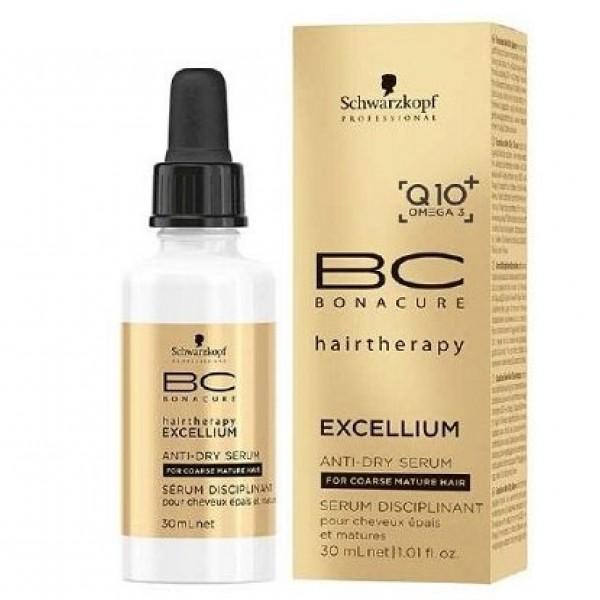 BC Exellium Anti Dry Serum Glotninamasis plaukų serumas, 30ml