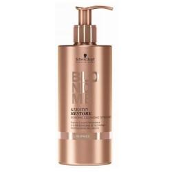 Plaukus stiprinantis ir nešvarumus pašalinantis kondicionierius BlondMe Keratin Restore 500 ml