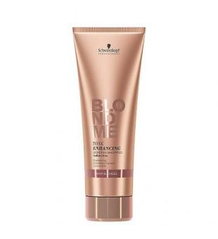 Schwarzkopf Professional BLOND ME Tone Enhancing Bonding Shampoo Atkuriamasis, toną puoselėjantis šampūnas (šiltiems atspalviams), 250ml | inbeauty.lt