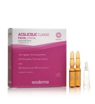Sesderma Acglicolic Classic Forte Facial Ampoules Veido ampulės nuo raukšlių, 5x2ml | inbeauty.lt