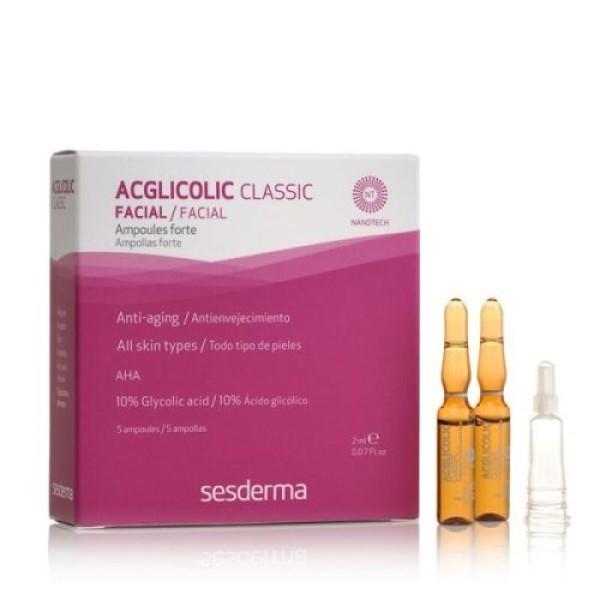 Acglicolic Classic Forte Facial Ampoules Veido ampulės nuo raukšlių, 5x2ml