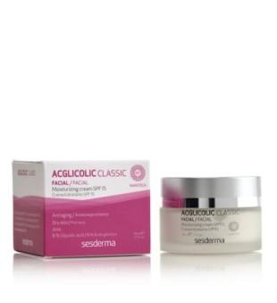 Sesderma Acglicolic Classic Moisturizing Face Cream SPF15 Drėkinamasis veido kremas, 50ml | inbeauty.lt