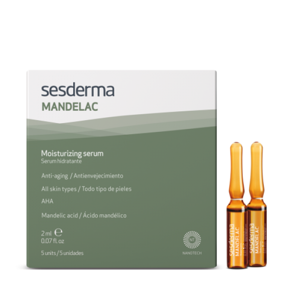 Mandelac Moisturizing Serum Intensyvaus serumo ampulės, 5x2ml