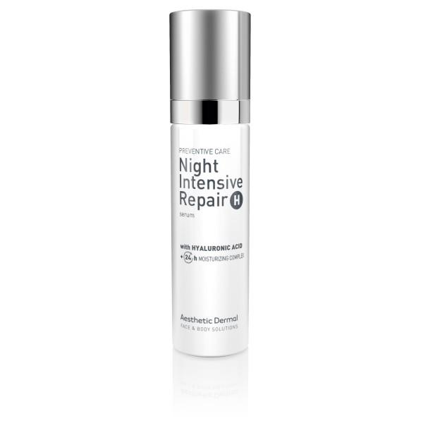 Night Intensive Repair Serum With Hyaluronic Acid Drėkinamasis veido serumas, 50ml