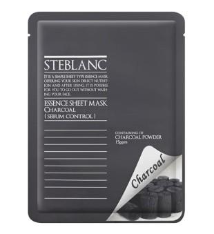 Steblanc Essence Sheet Mask Charcoal Veido kaukė su anglim, 20g | inbeauty.lt