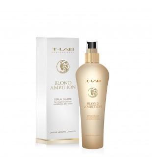 T-LAB Blond Ambition Serum Deluxe Serumas šviesintiems plaukams, 130ml | inbeauty.lt
