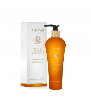 T-LAB Curl Passion Leave-In Cream Nenuplaunamas garbanų kremas, 130ml | inbeauty.lt