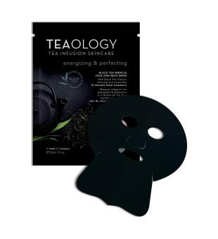 Teaology Black Tea Miracle Face & Neck Mask Lakštinė veido ir kaklo kaukė, 1vnt. | inbeauty.lt