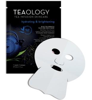 Teaology Blue Tea Miracle Face & Neck Mask Drėkinamoji veido kaukė, 1vnt. | inbeauty.lt
