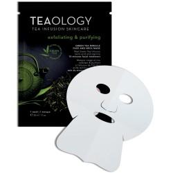Green Tea Miracle Face & Neck Mask Laštinė kaukė veidui ir kaklui, 1vnt.