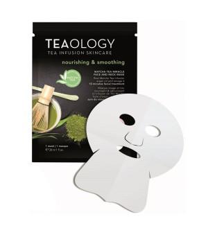 Teaology Matcha Tea Miracle Face & Neck Mask Maitinamoji veido kaukė, 1vnt | inbeauty.lt
